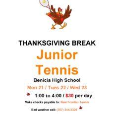 Thanksgiving Break Junior Tennis