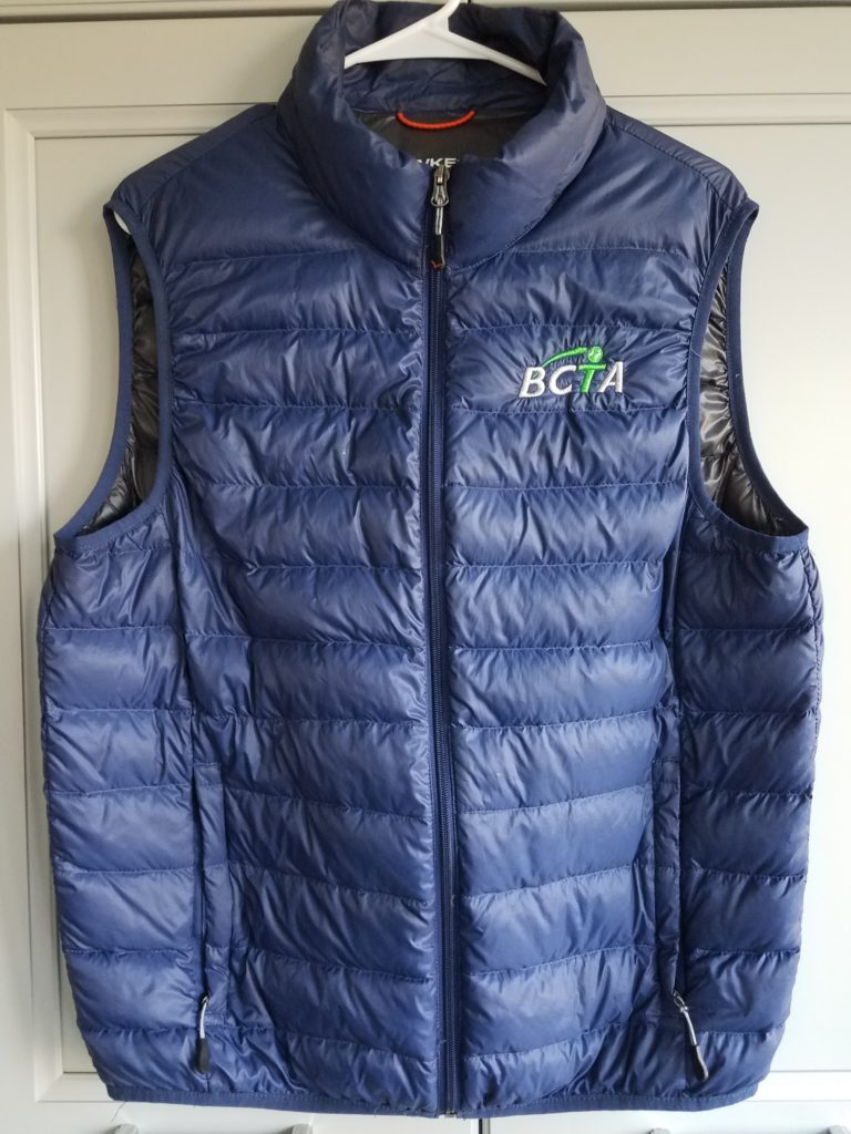 Image of BCTA embroidered vest.