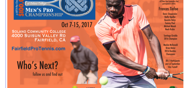 Save the dates! Professional tennis comes to Fairfield October 7-15!