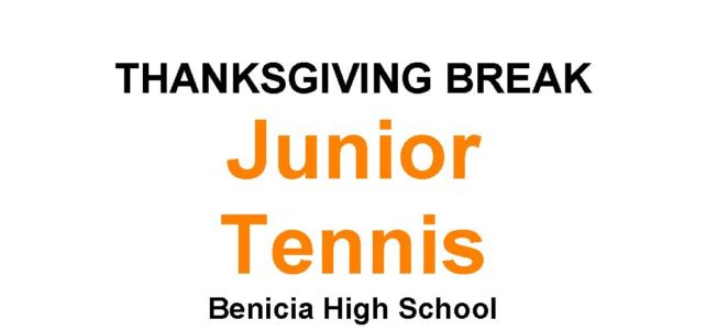 Thanksgiving Break Junior Tennis
