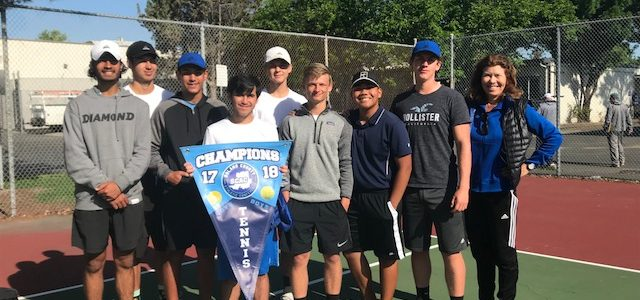 2018 Benicia High School boys tennis team undefeated