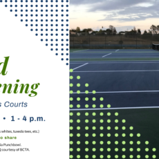 BHS Tennis Court Grand Re-opening